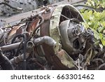 rusting airplane engine from...   Shutterstock . vector #663301462