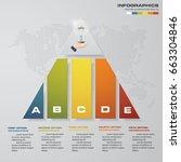 5 steps presentation chart... | Shutterstock .eps vector #663304846