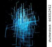 3d rendered organic abstract... | Shutterstock . vector #663312412