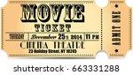 movie ticket icon | Shutterstock . vector #663331288