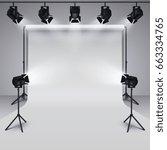 lighting equipment and... | Shutterstock .eps vector #663334765