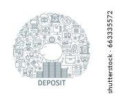 bank deposit concept. design... | Shutterstock .eps vector #663335572