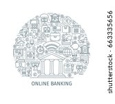 online banking concept. design... | Shutterstock .eps vector #663335656