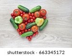 heart shape form by various... | Shutterstock . vector #663345172