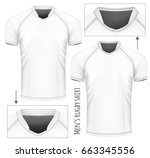 rugby jersey with different... | Shutterstock .eps vector #663345556