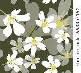 vector seamless pattern  white... | Shutterstock .eps vector #663352192