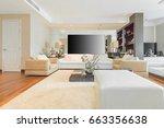 modern living room interior | Shutterstock . vector #663356638