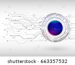abstract digital technology... | Shutterstock .eps vector #663357532