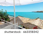 summer sea view of bulgarian... | Shutterstock . vector #663358342