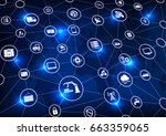industry 4.0  internet of... | Shutterstock .eps vector #663359065