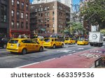 new york  usa   oct 5  the busy ... | Shutterstock . vector #663359536