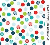 seamless polka dots with... | Shutterstock .eps vector #663361966
