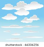 vector background with sky. | Shutterstock .eps vector #66336256