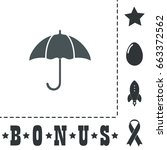 umbrella icon illustration....