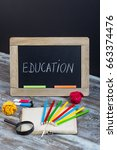 education background with... | Shutterstock . vector #663374476