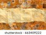 abstract pattern brown color... | Shutterstock . vector #663409222