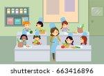 illustration of stickman kids...   Shutterstock .eps vector #663416896