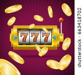 casino concept slot machine... | Shutterstock . vector #663418702