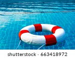 safety equipment  life buoy or... | Shutterstock . vector #663418972