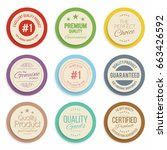 badges and labels collection.... | Shutterstock .eps vector #663426592