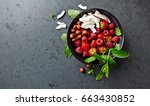 natural ingredients for a... | Shutterstock . vector #663430852