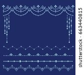 set of rhinestone borders  ...   Shutterstock .eps vector #663440815