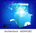 open explore gift with fly... | Shutterstock .eps vector #66344182