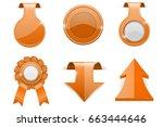orange 3d labels. design...   Shutterstock .eps vector #663444646