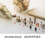 saving money concept with... | Shutterstock . vector #663449365