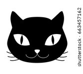 cat pet mascot silhouette icon  ... | Shutterstock .eps vector #663457162
