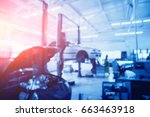 auto repair service. blurred...