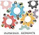 illustration concepts for... | Shutterstock . vector #663464476