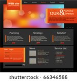 black and orange vector web...   Shutterstock .eps vector #66346588