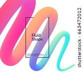 fluid color background. liquid... | Shutterstock .eps vector #663472012
