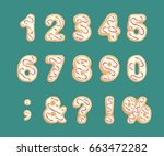 set of numbers and punctuation... | Shutterstock .eps vector #663472282