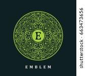 vector calligraphic logo... | Shutterstock .eps vector #663473656