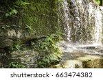 hidden falls  big woods state...   Shutterstock . vector #663474382