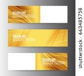 abstract golden vector web... | Shutterstock .eps vector #663485758