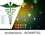 2d illustration health care and ... | Shutterstock . vector #663489742