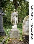 highgate cemetery  highgate ... | Shutterstock . vector #663498892