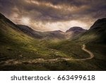 Moody Evening Landscape In The...