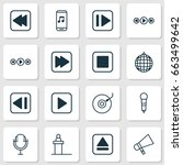 audio icons set. collection of...