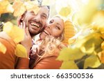 lifestyle  happy couple of two... | Shutterstock . vector #663500536