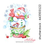 winter holidays illustration.... | Shutterstock . vector #663503122
