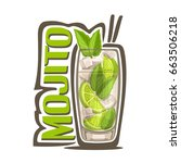 vector illustration of alcohol... | Shutterstock .eps vector #663506218