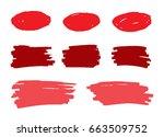 vector marker stains.grunge... | Shutterstock .eps vector #663509752