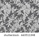 seamless vector white lace... | Shutterstock .eps vector #663511348