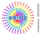 pride vector badge | Shutterstock .eps vector #663513202