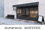 front view cafe shop  ... | Shutterstock . vector #663515332
