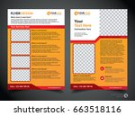 flyer design template vector ... | Shutterstock .eps vector #663518116